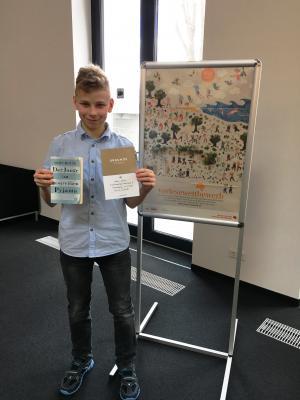 Foto zu Meldung: Oranienburger ist Kreissieger Vorlesewettbewerb