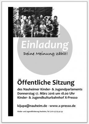 Foto zur Meldung: Einladung zur öffentlichen Sitzung des Nauheimer Kinder- und Jugendparlaments