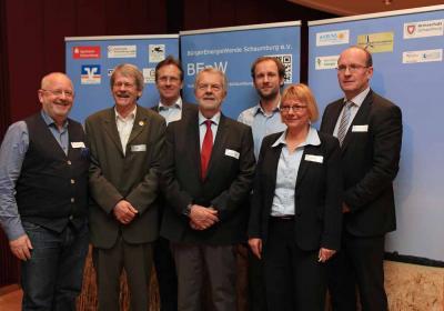 BEnW Vorstand mit Referenten und Moderatorin