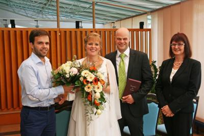 Foto zur Meldung: 100. Eheschließung in Wandlitz