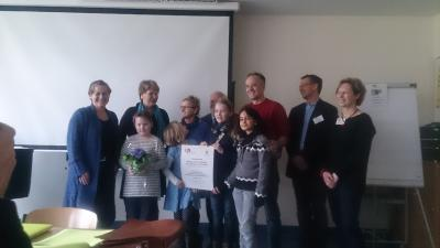 Foto zur Meldung: Preis für den Schulförderverein der Gerhart-Hauptmann-Grundschule Grünheide e.V.