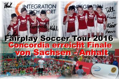 Foto zu Meldung: SV Concordia 08 qualifiziert sich bei der Fairplay Soccer Tour fürs Landesfinale !