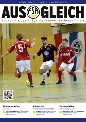 """Foto zur Meldung: Magazin des Fußballverbandes Sachsen-Anhalt """"AUSGLEICH"""", Ausgabe 1/2016, erschienen"""