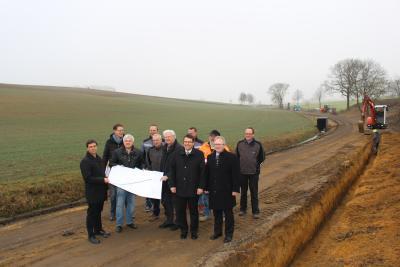 Foto zur Meldung: Baubeginn an der GVS Altenschwand-Meldau