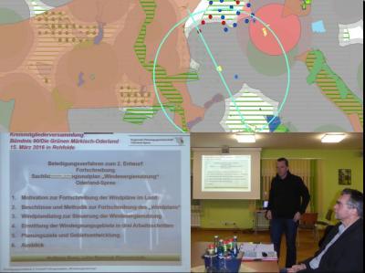 Foto zu Meldung: Bündnisgrüne diskutieren in Rehfelde zum 2. Windplanentwurf