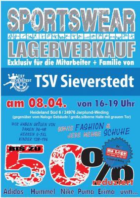 Foto zur Meldung: XXL LAGERVERKAUF des TSV SIEVERSTEDT