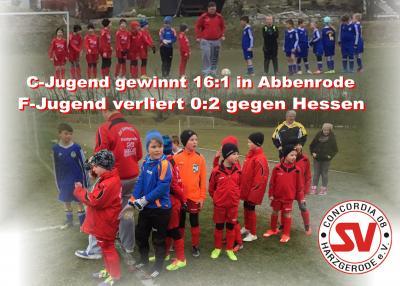 Foto zu Meldung: C-Jugend siegt 16:1 und F-Jugend verliert Heimspiel 0:2