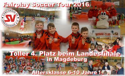 Foto zu Meldung: Niklas, Lorenz, Phil u. Luke - 4. Platz beim Landesfinale !!!