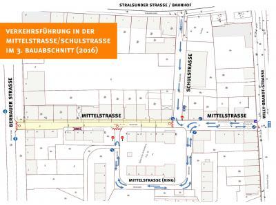 Foto zu Meldung: Bauarbeiten in der Mittelstraße gehen weiter