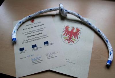 Foto zur Meldung: Fürstenwalde und die Kooperationspartner von @see BEReit und LOS sind Gewinner im Stadt-Umlandwettbewerb