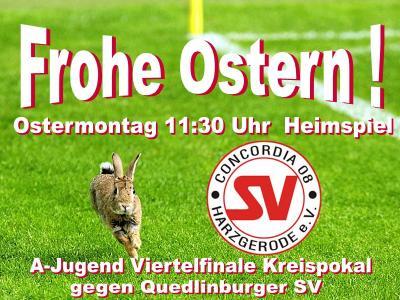 Foto zu Meldung: Concordia08 wünscht Frohe Ostern ! A-Jugend Pokalspiel am Montag