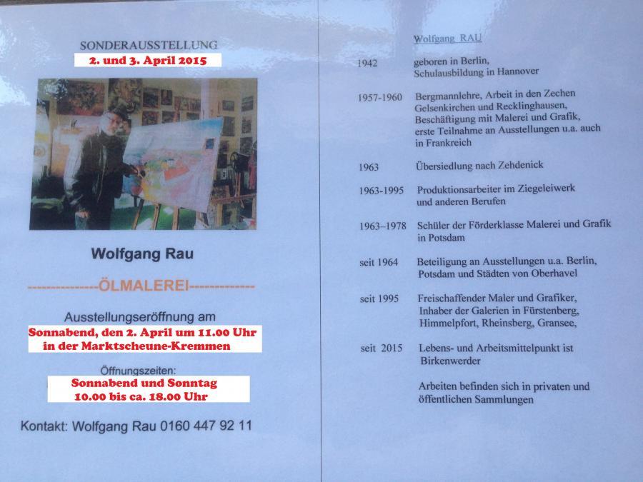 Maler Recklinghausen kremmen de der maler wolfgang rau stellt aus