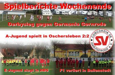 Foto zu Meldung: Derbysieg in der Harzoberliga / Ergebnisse Nachwuchs