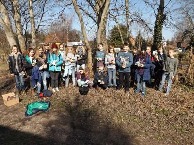 Foto zu Meldung: Geocaching der Klasse 6a