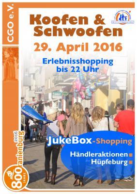 """Foto zur Meldung: Shoppingnacht """"Koofen & Schwoofen"""" am 29. April 2016"""