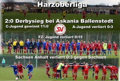 Foto zu Meldung: Ergebnisse Sonntag / Derbysieg in Ballenstedt