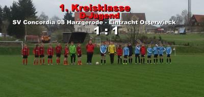 Foto zu Meldung: D-Jugend spielt 1:1 gegen E. Osterwieck