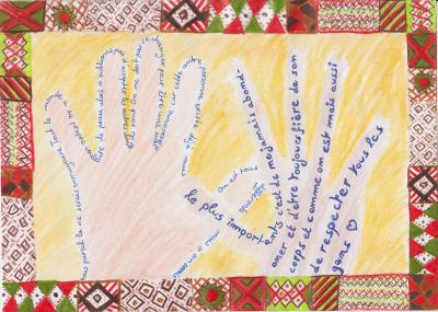 Vorschaubild zur Meldung: Calligrammes - Classe 6b