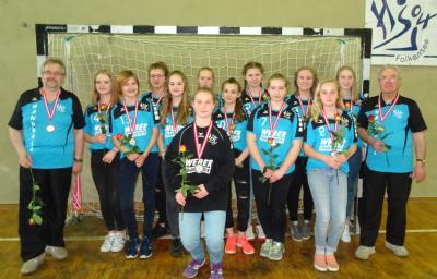 Foto zur Meldung: C-Jugend wurde als Vize-Landesmeister mit der Silbermedaille geehrt
