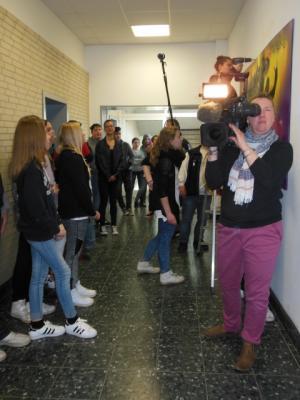 Foto zur Meldung: Der NDR dreht an der Anne-Frank-Schule