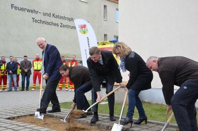 Foto zur Meldung: Start für Umbau und Erweiterung der Rettungswache Großräschen