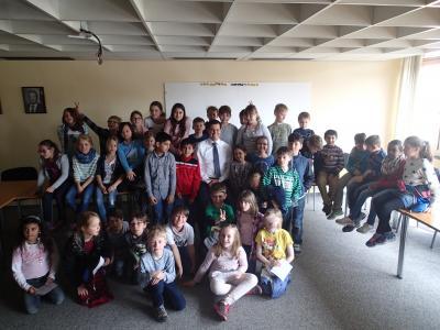 Foto zur Meldung: Besuch der Grundschule im Rathaus
