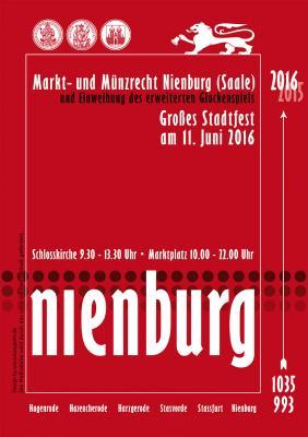 Foto zur Meldung: Historisches Stadtfest in Nienburg (Saale) am 11. Juni 2016