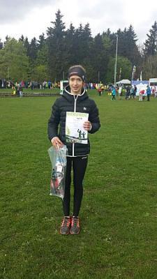 Vorschaubild zur Meldung: Nathalie Horstmann gewinnt beim Rennsteig-Juniorcross