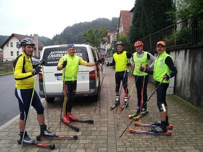 Foto zur Meldung: Skiroller-Rennsteig-Tour