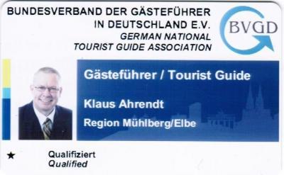 Foto zur Meldung: Lutherfinder Klaus Ahrendt: Mitglied im Bundesverband der Gästeführer in Deutschland e.V.