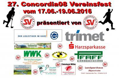 Foto zur Meldung: Nur noch 6 Wochen bis zum 27. Concordia08 Vereinsfest 2016
