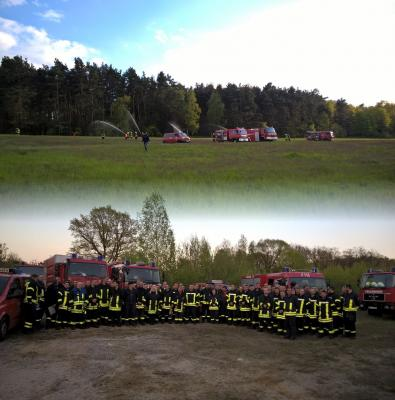 Foto zu Meldung: Waldbrand in Merzdorf forderte die Feuerwehr