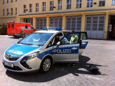 Foto zur Meldung: Besuch der Berliner Polizei