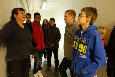 Foto zu Meldung: Schüler der Robinsonschule zu Besuch