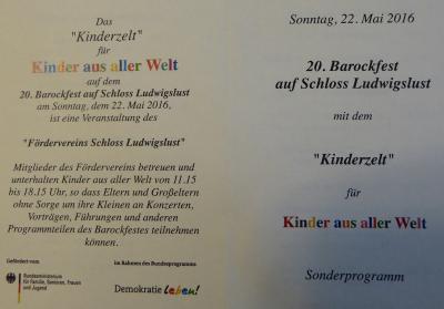 Foto zur Meldung: Barockfest- ein extra Programm für Kinder