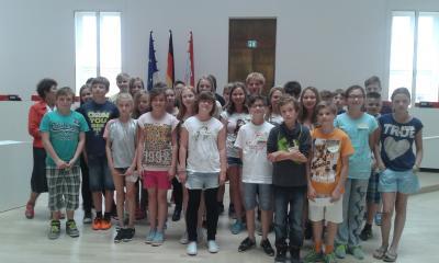 Foto zur Meldung: Besuch des Landtages in Potsdam