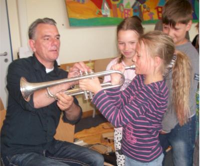 Foto zur Meldung: Eine ganz besondere Musikstunde in Grabow