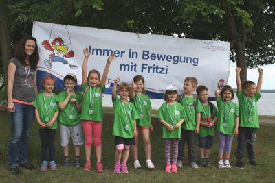 "Foto zur Meldung: Kitaolympiade ""Immer in Bewegung mit Fritzi"" in Senftenberg"