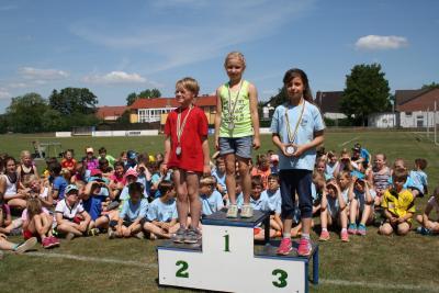 Foto zur Meldung: 19. Kinder- und Jugend Sportspiele im Landkreis , Leichtathletik Dreikampf