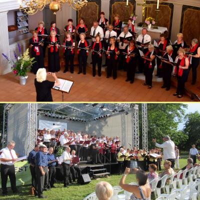 Foto zu Meldung: Rehfelder Sängerkreis mitten in der märkischen Sängerfamilie