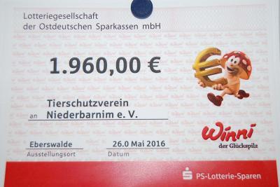 Foto zu Meldung: PS - Lotterie unterstützt das Tierheim
