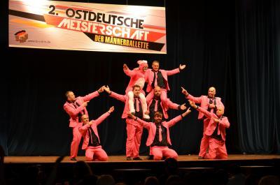 Foto zur Meldung: Ostdeutsche Meisterschaft der Männerballette – der 3. Platz ging an das Männerballett aus Günthersdorf