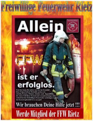 Foto zu Meldung: Mitglieder in der FFW Rietz gesucht!