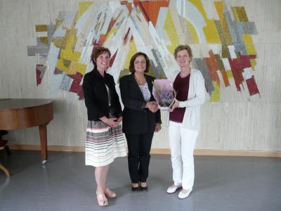 Foto zur Meldung: Neue Rektorin Frau Brunhild Thomas im Amt