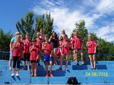 Foto zur Meldung: Bronze beim Staffellauf