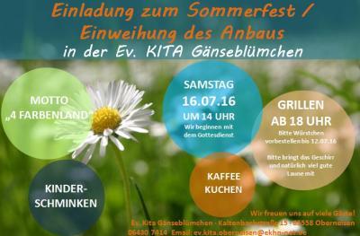 Foto zur Meldung: Sommerfest im 4-Farbenland