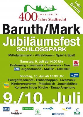 Plakat 400 Jahre Baruth