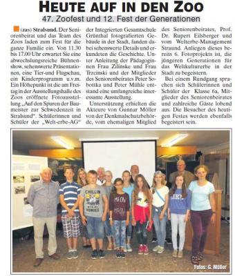 Foto zur Meldung: Welterbe-AG  - Ausstellungseröffnung am 01.07.2016