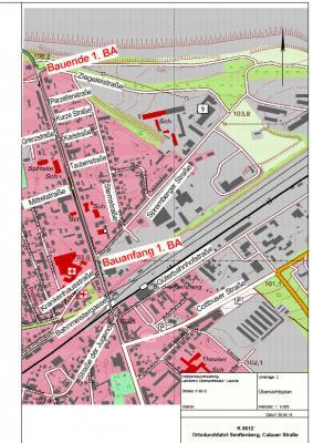 Foto zur Meldung: Start für Bauarbeiten an der Calauer Straße in Senftenberg