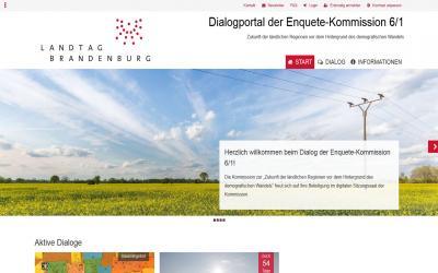 Foto zur Meldung: Dialogportal der Enquete-Kommission gestartet
